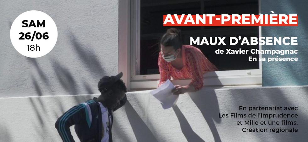 Avant-Première: Maux d'Absence de Xavier Champagnac, en sa présence